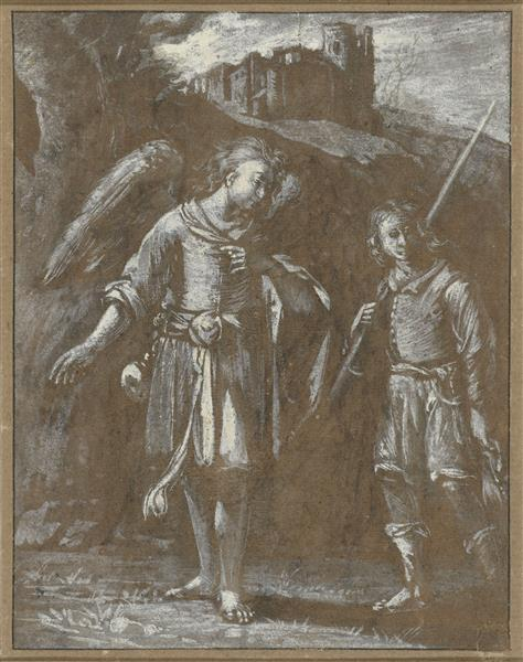 Tobias En De Engel - Adam Elsheimer