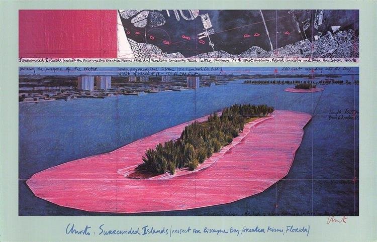 Surrounded Islands (Biscayne Bay, Miami), 1980 - 1983 - Christo and Jeanne-Claude