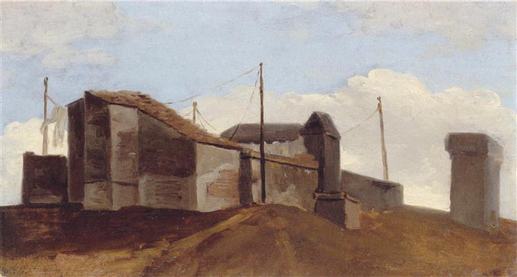 Rooftops in the shadows - Pierre-Henri de Valenciennes