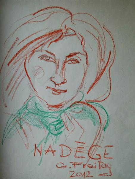 Nadége with green scarf, 2012 - Gazmend Freitag