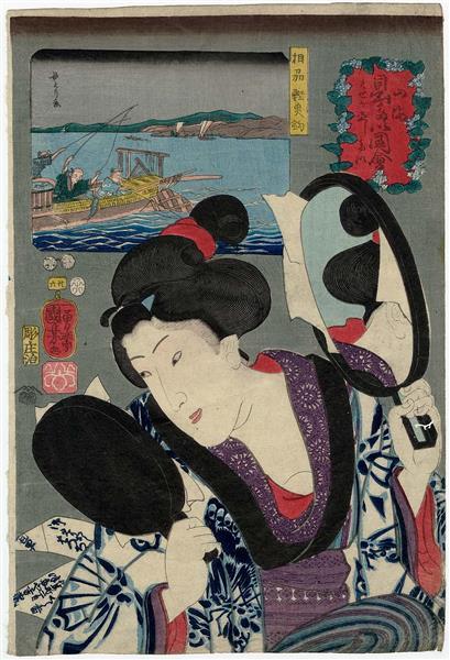 Wanting to Improve One's Habits, 1852 - Utagawa Kuniyoshi