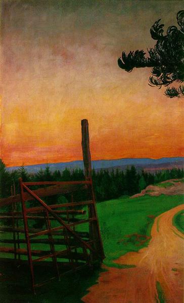 Estrada Rural - Harald Sohlberg