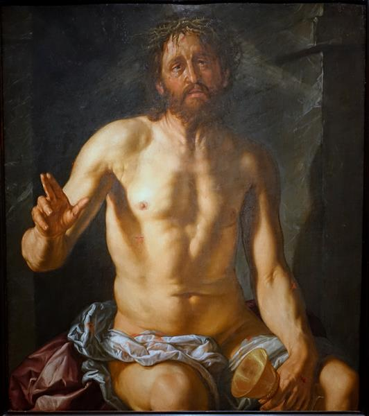 Man of Sorrows with a Chalice (Christ as Redeemer), 1614 - Hendrick Goltzius