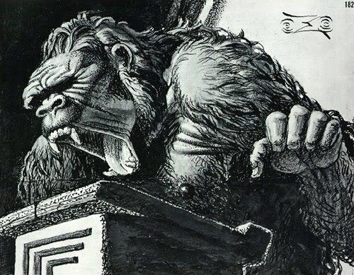 Screaming gorilla - Stanisław Szukalski