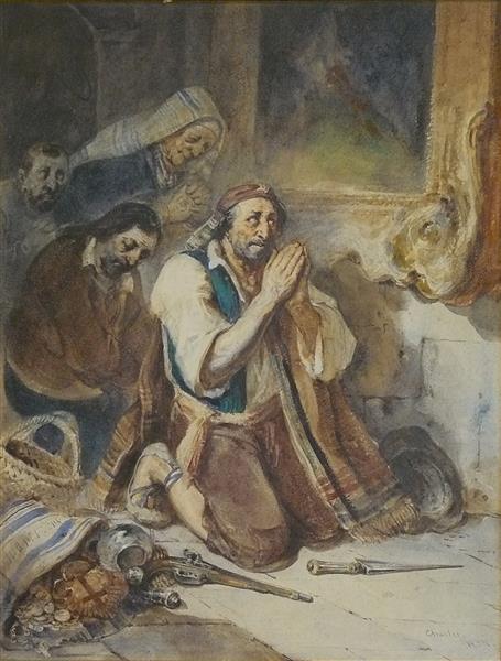 La Prière à la Madonne (Bandits en Prière), 1834 - Charlet