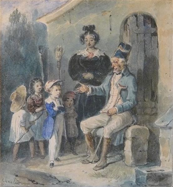 Le Vieux Grognard racontant ses Épopées - Nicolas-Toussaint Charlet