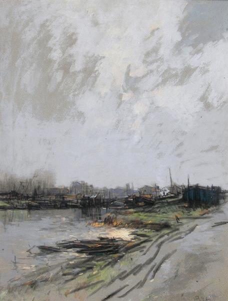 Matin d'hiver, Billancourt - Pierre-Jacques Pelletier