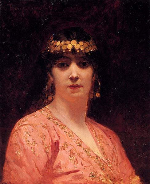 Portrait of An Arab Woman - Benjamin Constant