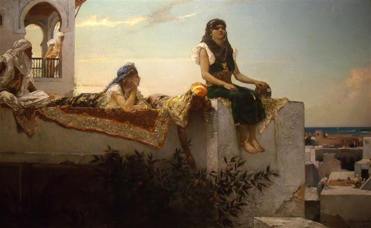 Le Soir Sur Les Terrasses, 1879 - Жан-Жозеф Бенжамен-Констан
