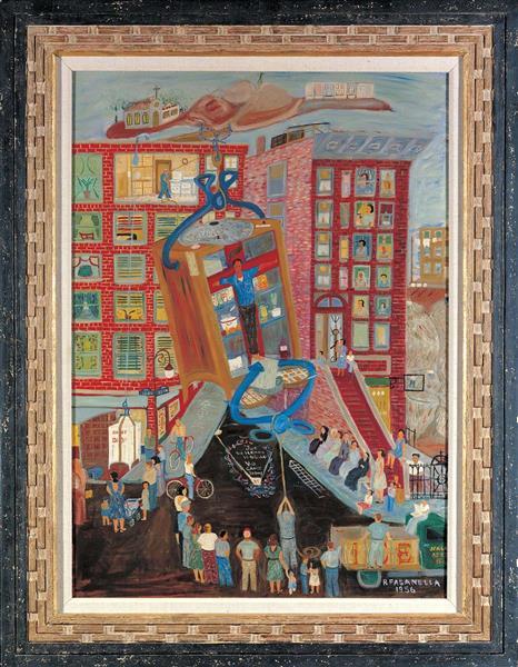Iceman Crucified #3, 1956 - Ralph Fasanella