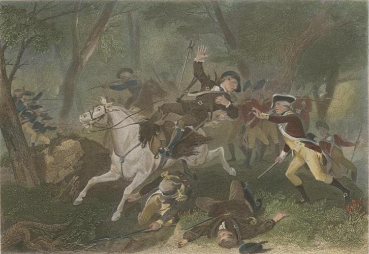 The Death of British Major Patrick Ferguson at the Battle of Kings Mountain During the American Revolutionary War, October 7, 1780, 1863 - Alonzo Chappel