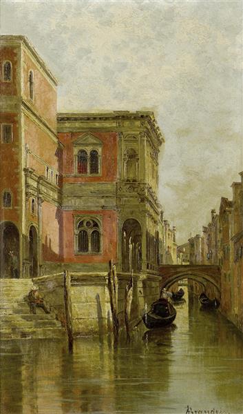 Venetian Canal - Antonietta Brandeis