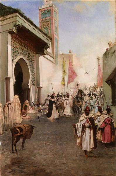 Le Pacha De Tanger Près De La Grande Mosquée - Benjamin Constant