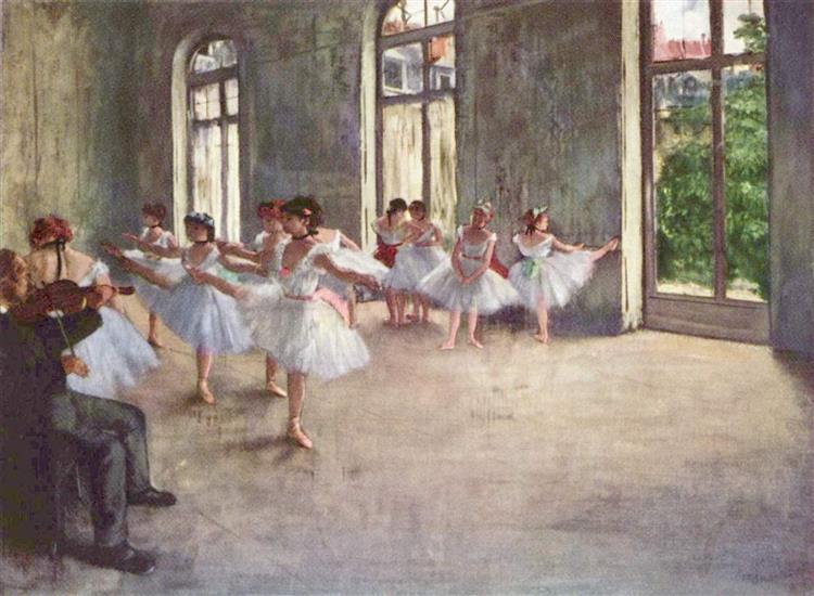 Ballet Rehearsal, 1873 - Edgar Degas