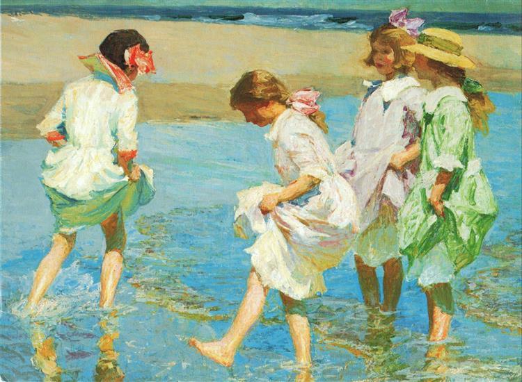 Beach Scene, 1910 - Эдуард Генри Потхаст