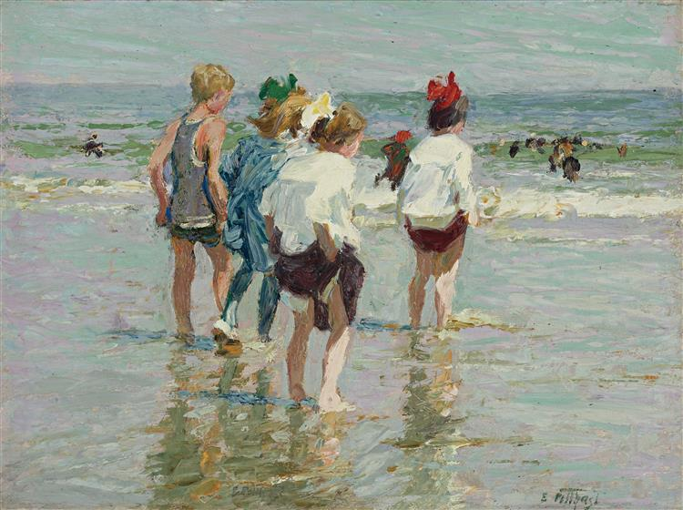Summer Day, Brighton Beach - Edward Henry Potthast