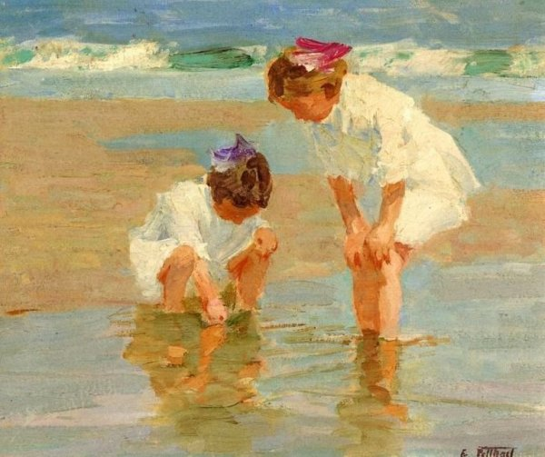 Girls Playing in Surf - Edward Henry Potthast