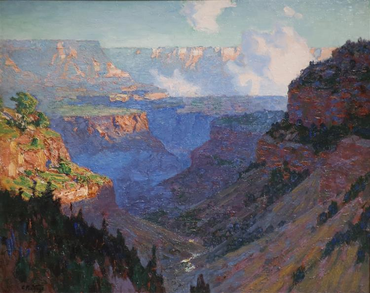 Looking Across the Grand Canyon, c.1910 - Edward Henry Potthast