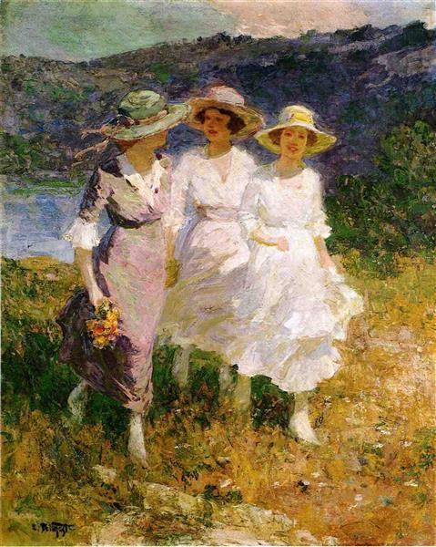 Walking in the Hills - Edward Henry Potthast