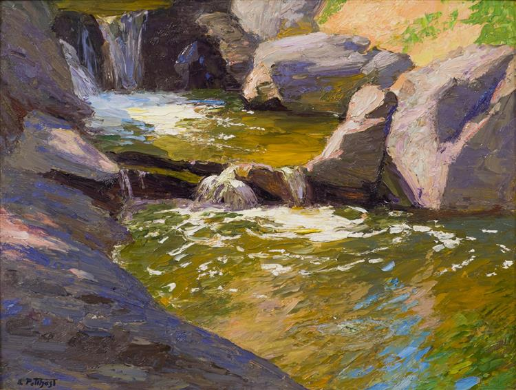 The Waterfall, c.1908 - Edward Henry Potthast