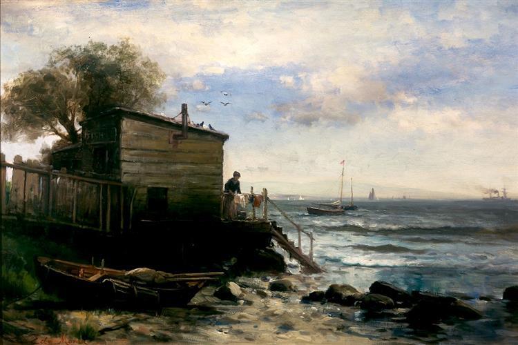 Fishermans Home, 1870 - Edward Moran