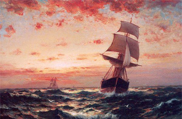 Ships at Sea - Edward Moran