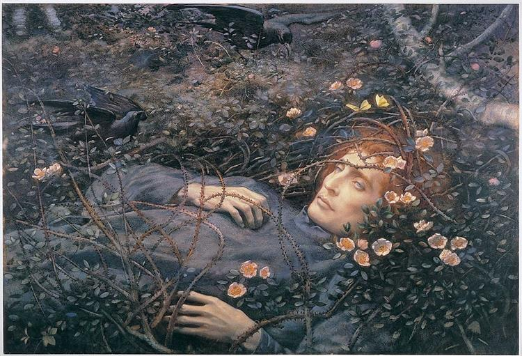'Oh, What's That in the Hollow...?' - Edward Robert Hughes