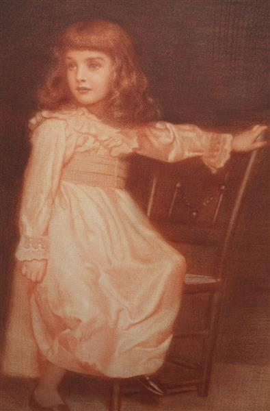 Portrait of Elaine Blunt, 1895 - Edward Robert Hughes