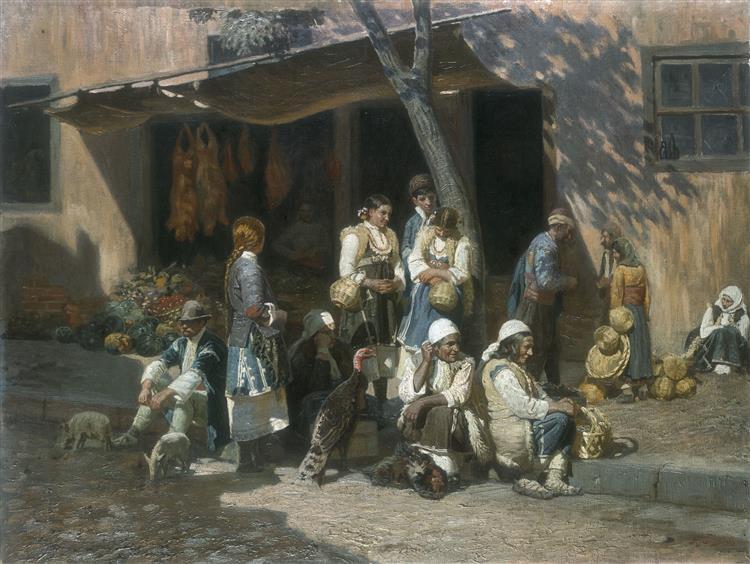Peasant women at the market in Sofia, 1903 - Anton Mitov