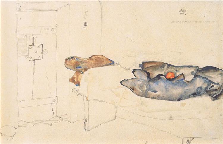 Aquella naranja era la única luz, 1912 - Egon Schiele