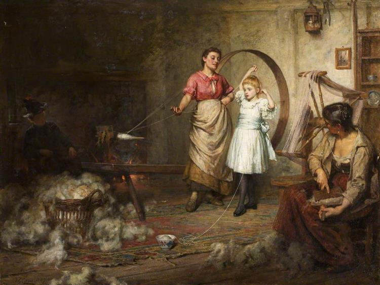 Her Ladyship's First Lesson - Frederick George Cotman
