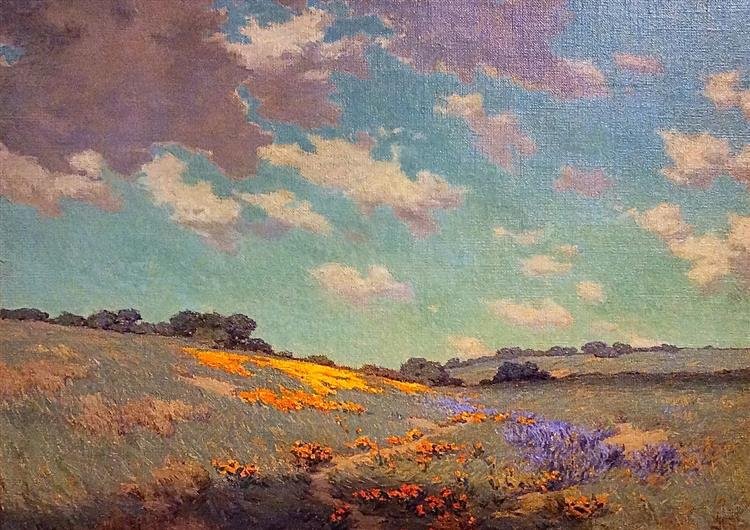 Patch of Poppies by Granville Redmond, 1912 - Granville Redmond
