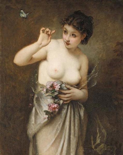 Jeune Fille Au Papillon - Guillaume Seignac
