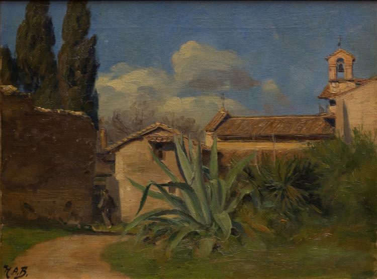 Italiensk Klosterhave Med Stor Agave - Hans Andersen Brendekilde