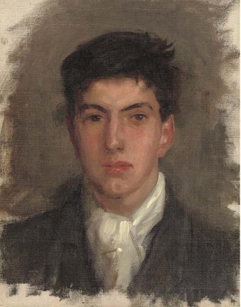 Portrait of Johnny Jackett - Henry Scott Tuke