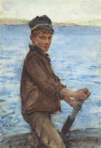 Steering the Punt - Henry Scott Tuke