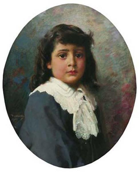 Portrait of a child, 1907 - Ivan Mrkvička