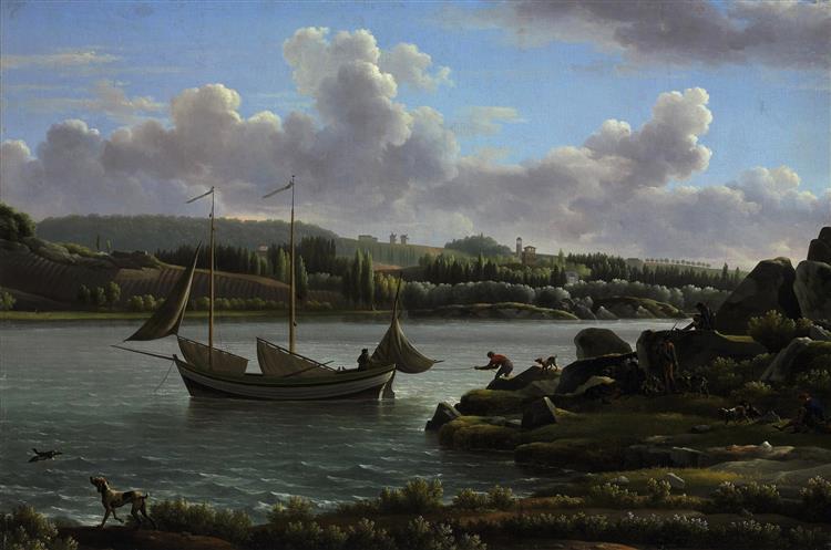 The Departure for the Hunt - Jean-Joseph-Xavier Bidauld