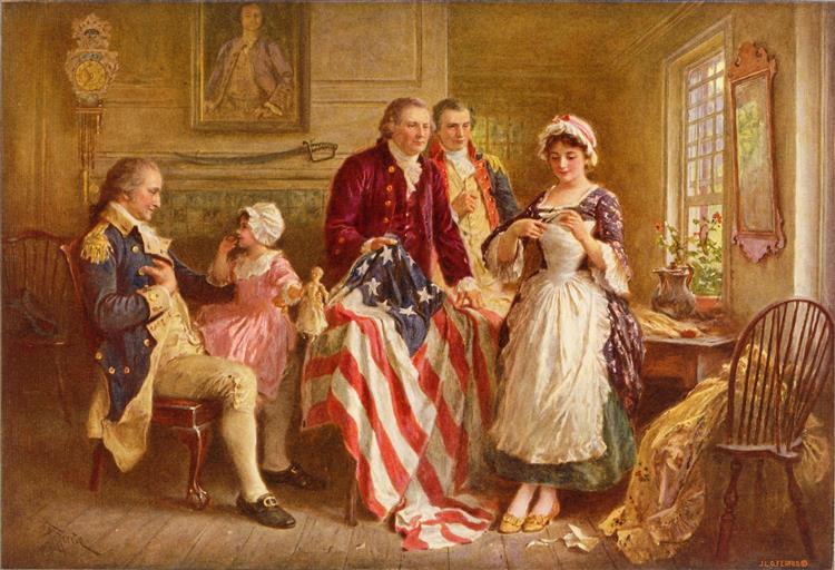 Betsy Ross, 1777 - Jean Leon Gerome Ferris