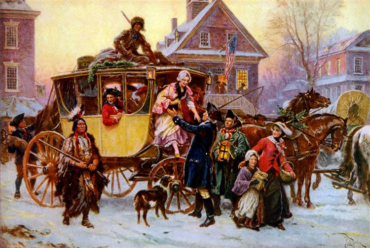 The Christmas Coach, 1795 - Jean Leon Gerome Ferris