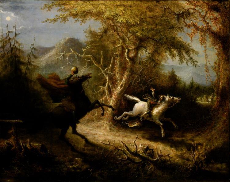 The Headless Horseman Pursuing Ichabod Crane, 1858 - John Quidor