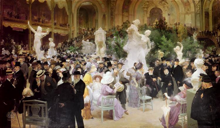 Friday at the French Artists' Salon, 1929 - Жюль Александр Грюн