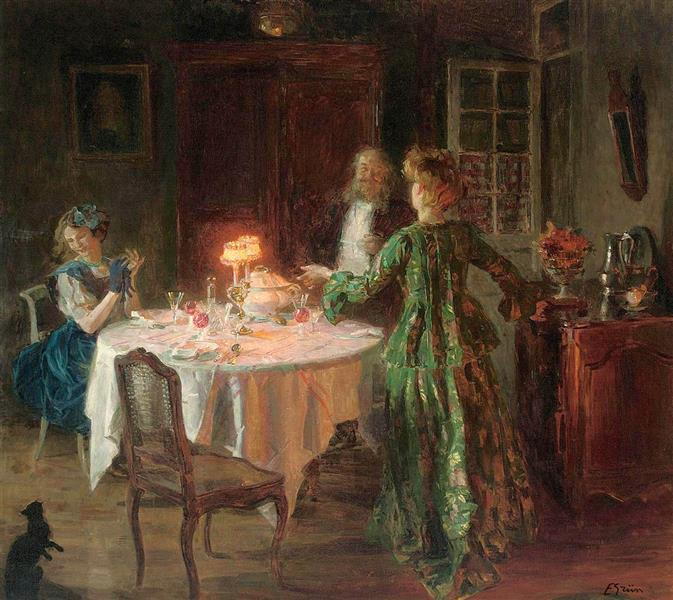 The Dinner Party, 1911 - Jules-Alexandre Grun