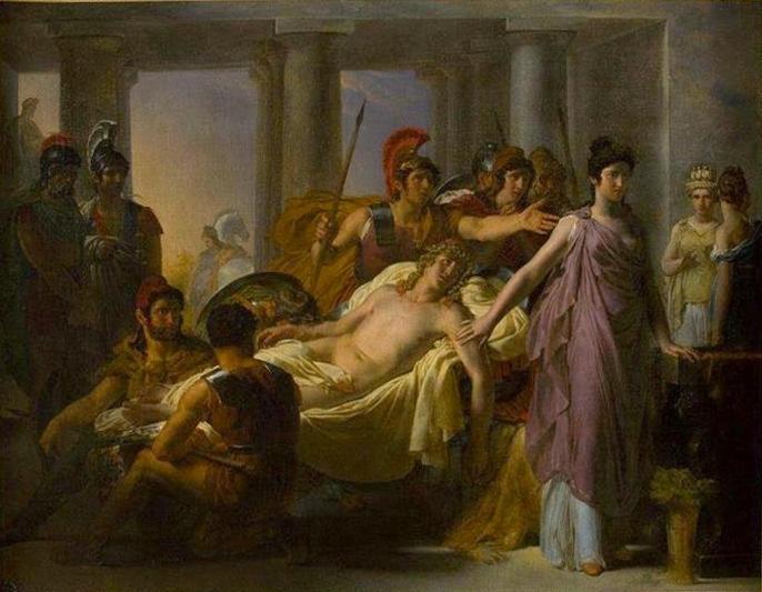 Oenone Refuse de Secourir Pâris au Siège de Troie, 1816 - Léon Cogniet