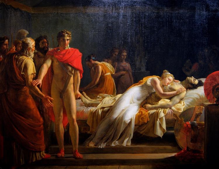 Briséis Rendue À Achille Découvre Dans Sa Tente Le Corps De Patrocle, 1815 - Léon Cogniet