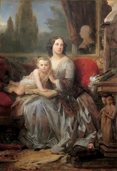 Maria Brignole-Sale, Duchess of Galliera, with Her Son Filippo, 1856 - Léon Cogniet