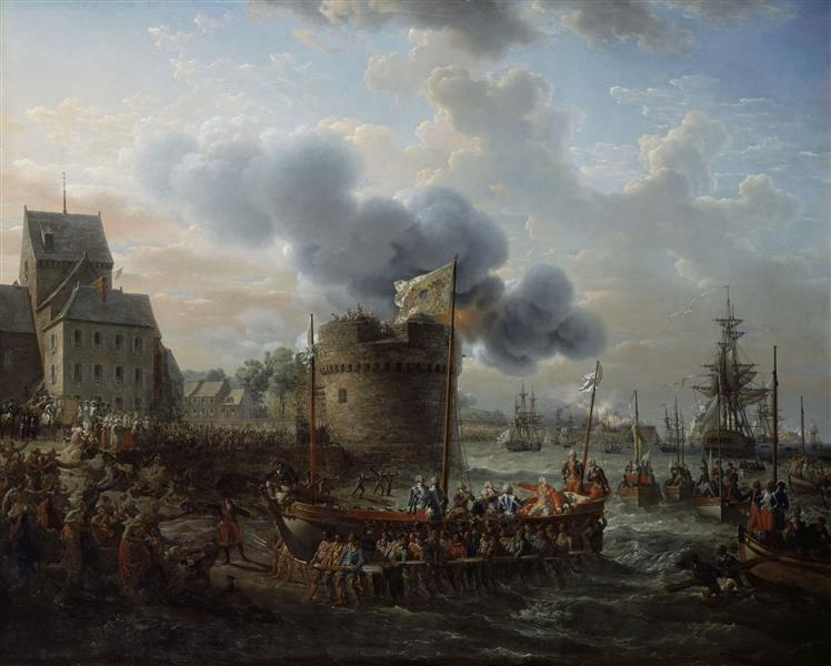 Louis XVI visitant le port de Cherbourg en 1786, 1817 - Louis-Philippe Crépin