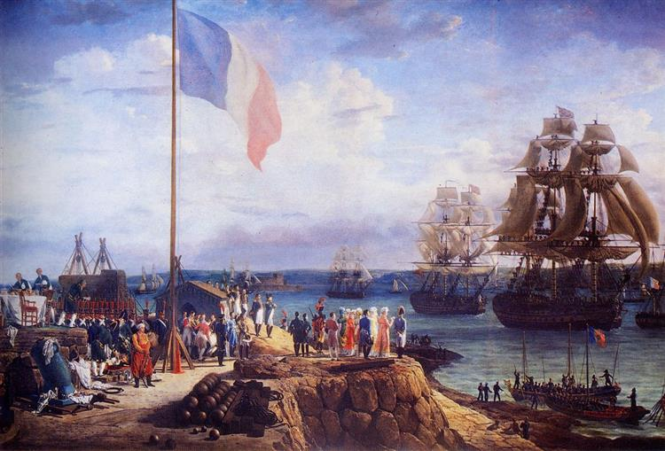 Napoléon and Marie Louise Attending the Parade of the Squadron in Cherbourg, in 1811 - Louis-Philippe Crépin