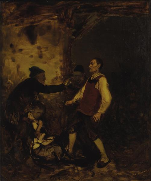 Death of a Gentleman, 1850 - Ludwig Knaus