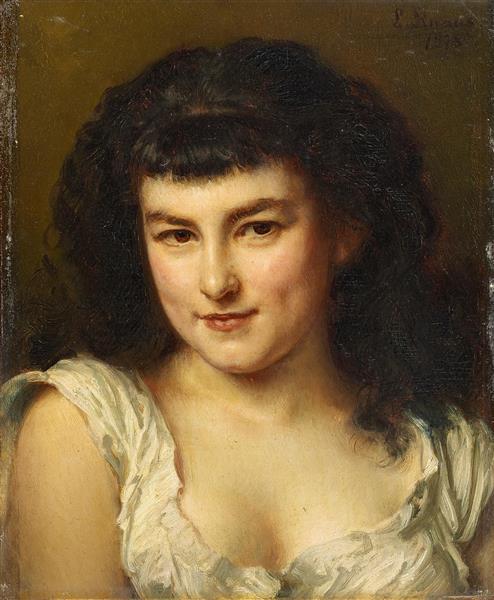 Portrait of a Young Girl, 1878 - Людвиг Кнаус